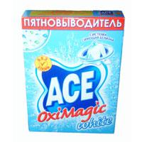 Пятновыводитель Ace Oxi Magic White, 500 гAC-81498164Пятновыводитель Ace Oxi Magic White предназначен для стирки в автоматических стиральных машинах и ручной стирки. Пятновыводитель содержит комплекс элементов, которые улучшают качество стирки и позволяют использовать небольшое количество порошка. Добавьте Ace Oxi Magic White к вашему стиральному порошку при стирке белых вещей, и ваша одежда будет всегда безупречно чистой, мягкой и с приятным ароматом.
