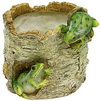 Декоративное кашпо Лягушки на березеHP091225Кашпо для цветов представляет собой декоративную вазу, выполненную в виде двух лягушек на стволе березы. Ваза предназначена для установки внутрь цветочных горшков с растениями. Кашпо часто становятся последним штрихом, который совершенно изменяет интерьер помещения или ландшафтный дизайн сада. Благодаря такому кашпо вы сможете украсить вашу комнату, офис, сад и другие места. Характеристики: Материал: полистоун. Диаметр отверстия для горшка: 11,5 см. Высота кашпо: 12,5 см. Размер коробки: 16 см х 13,5 см х 14 см. Артикул: НР091225. Производитель: Китай.