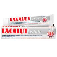 Lacalut Зубная паста White, 75 мл1598006500Зубная паста Lacalut White тщательно и бережно удаляет бактериальный налет, являющийся основной причиной окрашивания, и деликатно полирует эмаль зубов. Предназначена для ежедневного применения и особенно рекомендуется для курильщиков, любителей чая и кофе. Lacalut White не содержит химических отбеливающих и агрессивных абразивных компонентов. Специальная рецептура укрепляет и реминерализует твердые ткани зубов, предупреждает образования зубного камня и развитие кариеса. Характеристики: Объем: 75 мл. Производитель: Германия. Товар сертифицирован. Свою историю стоматологическая торговая марка Lacalut ведет с начала 20-х годов XX века. Высочайшее качество и эффективность обеспечили ей признание у специалистов и популярность у потребителей более 50 стран мира, и по праву считается лидером среди лечебно-профилактических средств гигиены полости рта. Сегодня Торговая марка Lacalut включает в себя целую гамму средств - зубные пасты,...