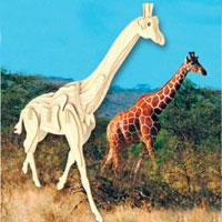 Сборная деревянная модель ЖирафМ020Сборная деревянная модель Жираф позволит Вам и Вашему ребенку собрать объемную деревянную фигурку в виде жирафа. Модель для сборки развивает мелкую моторику, ителлектуальные способности, воображение и конструктивное мышление, тренирует терпение и усидчивость.