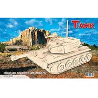 Сборная деревянная модель ТанкП050Сборная деревянная модель Танк позволит Вам и Вашему ребенку собрать объемную деревянную конструкцию в виде военного танка. Модель для сборки развивает мелкую моторику, ителлектуальные способности, воображение и конструктивное мышление, тренирует терпение и усидчивость.