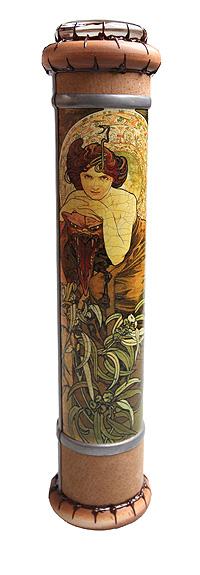 """Красивое стекло Калейдоскоп """"Муха"""". Шпон, кракелюрный лак, зеркала, металл, стекло, акрил, дерево. Ручная авторская работа а211"""