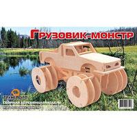 Сборная деревянная модель Грузовик-монстр2854120Сборная деревянная модель Грузовик-монстр позволит Вам и Вашему ребенку собрать объемную деревянную конструкцию в виде грузовика. Модель для сборки развивает мелкую моторику, интеллектуальные способности, воображение и конструктивное мышление, тренирует терпение и усидчивость.