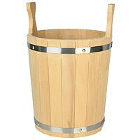 Запарник для бани, липа, 12 лБ741Запарник объемом 12 л, в бане (сауне) предназначен для запаривания банных веников, для хранения воды, для разведения ароматических масел и настоек из трав, а также в быту по хозяйству. Характеристики: Высота (без ушек): 32 см. Диаметр по верху: 28 см. Материал: дерево (липа). Объем: 12 л. Производитель: Россия. Артикул: Б 741.