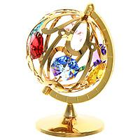 Миниатюра Глобус, цвет: золотистый, 7 см67038Миниатюра Глобус, золотистого цвета, станет необычным аксессуаром для Вашего интерьера и создаст незабываемую атмосферу. Кристаллы, украшающие сувенир, носят громкое имя Swarovski - ограненные, как бриллианты, кристаллы блистают сотнями тысяч различных оттенков. Эта очаровательная вещь послужит отличным подарком близкому человеку, родственнику или другу, а также подарит приятные мгновения и окунет Вас в лучшие воспоминания. Характеристики: Материал: металл (углеродистая сталь, покрытие золотом 0,05 микрон), австрийские кристаллы. Размер: 7 см х 5 см х 4,5 см. Цвет: золотистый. Размер упаковки: 9 см х 7 см х 4,5 см. Изготовитель: Польша. Артикул: 67038. Более чем 30 лет назад компания Crystocraft выросла из ведущего производителя в перспективную торговую марку, которая задает тенденцию благодаря безупречному чувству красоты и стиля. Компания создает изящные, качественные, яркие сувениры, декорированные кристаллами Swarovski ...