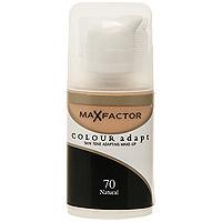 Max Factor Тональный крем Colour Adapt, тон 70 Natural (Натуральный), 34 мл80957267Не скрывайте свой естественный цвет лица. Подчеркните его! Тональный крем Colour Adapt благотворно воздействует и прорабатывает оттенок каждого участка кожи вашего лица, создавая самую естественную основу для макияжа. Умные частицы, адаптирующиеся к цвету поверхности, выявляют и отражают разнообразные пигменты кожи лица, придавая ей совершенно естественный вид, не скрывая природного сияния. Товар сертифицирован.