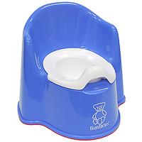 Горшок-кресло BabyBjorn, цвет: синий0551.15Ваш малыш будет в восторге от горшка-кресла BabyBjorn, ведь это личный маленький туалет. Специальный дизайн спинки, высокие и удобные подлокотники позволяют ребенку комфортно сидеть так долго, как это необходимо. Внутренняя часть горшка легко вынимается и моется отдельно. По анатомической форме подходит как девочкам, так и мальчикам. Особенности детского горшка-кресла BabyBjorn: высокая и удобная спинка; удобные подлокотники; достаточное пространство для ног; действенная защита от брызг предотвращает ненужное разбрызгивание; устойчиво стоит на месте благодаря резиновым планкам; прочная пластмасса, которая поддается утилизации.