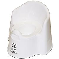 Горшок-кресло BabyBjorn, цвет: белый0551.21Ваш малыш будет в восторге от горшка-кресла BabyBjorn, ведь это личный маленький туалет. Специальный дизайн спинки, высокие и удобные подлокотники позволяют ребенку комфортно сидеть так долго, как это необходимо. Внутренняя часть горшка легко вынимается и моется отдельно. По анатомической форме подходит как девочкам, так и мальчикам. Особенности детского горшка-кресла BabyBjorn: высокая и удобная спинка; удобные подлокотники; достаточное пространство для ног; действенная защита от брызг предотвращает ненужное разбрызгивание; устойчиво стоит на месте благодаря резиновым планкам; прочная пластмасса, которая поддается утилизации.