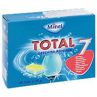 Чистящее средство для посудомоечной машины Minel Total, в таблетках, 800 г803773Чистящее средство Minel Total предназначено для мытья посуды в посудомоечных машинах. Особенности Minel Total: Мгновенно расщепляет масло и жир. Защищает от известкового налета и образования накипи. Действует в холодной воде, дезинфицирует. Специальные вещества предотвращают образование разводов и подтеков. Полностью удаляет остатки моющих средств. Позволяет машине работать эффективно и экономично, продлевая срок ее службы. Характеристики: Вес: 800 г. Количество таблеток: 40 шт х 20 г. Производитель: Германия. Товар сертифицирован.
