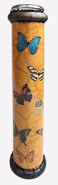 """Красивое стекло Калейдоскоп """"Бабочки"""". Цветная печать, кракелюрный лак, металл, лак, зеркала, стекло, акрил, дерево. Авторская работа"""