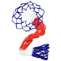Сетка баскетбольная Start up, 2 шт10-018Сетка Start up выполнена из нейлона синего, красного и белого цвета. Такая сетка незаменима для игры в баскетбол на улице или в спортзале.