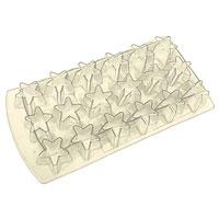 Форма для льда Звезда, цвет: бежевый, 18 ячеек25.35.27Форма для льда Звезда выполнена из силикона. На одном листе расположены 18 формочек в виде звезд. Благодаря тому, что формочки изготовлены из силикона, готовый лед вынимать легко и просто. Чтобы достать льдинки, эту форму не нужно держать под теплой водой или использовать нож. Теперь на смену традиционным квадратным пришли новые оригинальные формы для приготовления фигурного льда, которыми можно не только охладить, но и украсить любой напиток. В формочки при заморозке воды можно помещать ягодки, такие льдинки не только оживят коктейль, но и добавят радостного настроения гостям на празднике! Характеристики: Материал: силикон. Размер общей формы: 11,5 см х 22,5 см х 2,5 см. Размер формочки: 3,5 см х 2,5 см. Цвет: бежевый. Производитель: Италия.