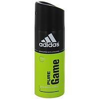 Adidas Pure Game. Дезодорант, 150 мл340009253354Дезодорант Adidas Pure Game подарит чувство свежести на весь день, обеспечит комфорт и длительную защиту от неприятного запаха на 24 часа. Не раздражает кожу, оказывает мягкое антибактериальное действие. Идеально подходит для чувствительной кожи.