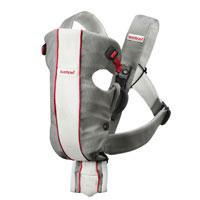 """Рюкзак для переноски ребенка BabyBjorn """"Air"""", цвет: серый, белый"""