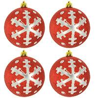 Набор новогодних шаров Снежинки, цвет: красный, 4 шт0159-1100Набор подвесных пластиковых шаров украсит новогоднюю елку и создаст теплую и уютную атмосферу праздника. В наборе 4 шара декорированных оригинальным блестящим рисунком. Шарики упакованы в пластиковую коробку, перевязанную белой лентой. Откройте для себя удивительный мир сказок и грез. Почувствуйте волшебные минуты ожидания праздника, создайте новогоднее настроение вашим дорогим и близким. Характеристики: Материал: пластик. Диаметр шара: 8 см. Размер упаковки: 15 см х 7 см х 16 см. Комплектация: 4 шт. Изготовитель: Китай. Артикул: 0159-1100.