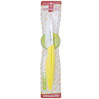 Нож для чистки овощей Hatamoto, 7 см, цвет: желтыйHC070W-YELНож для чистки овощей Hatamoto изготовленный из керамики, превосходно подойдет для чистки и нарезки овощей. Ручка ножа имеет элегантный, современный и яркий вид, который подойдет к интерьеру любой кухни. Такой нож займет достойное место среди аксессуаров на вашей кухне. Основные характеристики ножа Hatamoto: - при правильном использование не нуждается в заточке - не царапается в процессе резки - не боится моющих средств - весит меньше металлических ножей - не окисляется - на ноже не остается грязных пятен - не ржавеет. Дополнительные преимущества керамических ножей Hatamoto: - колоссальная острота и износостойкость режущей кромки, в духе и лучших традициях японских мастеров - не требуют заточки в течение 4-5 лет, потому что циркониевая керамика уступает по твердости только алмазу - не оставляют послевкусия, потому что не вступают в реакцию ни с какими продуктами - не...