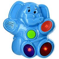 Музыкальная игрушка Поющие джунгли. Слоник31034Музыкальная игрушка Поющие джунгли. Слоник обязательно понравится вашему малышу. При нажатии на кнопку слоник воспроизводит три веселых мелодии. В такт мелодии мигают три лампочки красного цвета. Игрушка направлена на развитие слуха, внимания, координацию движений, развивает чувство ритма, интерес к музыке.