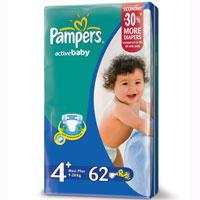 Pampers Active Baby Подгузники 4+, 7-18 кг, 62 штPA-81446648До 12 часов сухости, чтобы каждое утро было добрым! Для каждого доброго утра нужно до 12 часов сухости ночью. Поэтому для вас и вашего малыша каждое утро будет добрым, ведь у подгузников Pampers Active Baby-Dry есть обновленный рельефный впитывающий слой и основа, которая надежно запирает влагу внутри. А также мягие тянущиеся боковинки, чтобы подгузник сидел плотно и при этом не доставлял дискомфорт малышу. Просыпайтесь с радостью каждое утро с подгузниками Pampers Active Baby-Dry . - Каждое утро будет добрым после ночи спокойного сна! - Рельефный впитывающий слой, который впитывает влагу и запирает ее внутри - У подгузников Pampers Active Baby-Dry новый веселый дизайн! - Мягкие тянущиеся боковинки, чтобы малышу было комфортно, а подгузник сидел плотно - Доступны в размерах 2, 3, 3+, 4, 4+, 5, 5+, и 6