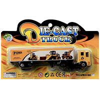 Грузовик PowerJH1135Грузовик Power является миниатюрной копией настоящего грузовика. Игрушка, изготовленная из металла и пластмассы, порадует вашего малыша. Ваш ребенок часами будет играть с машинкой, придумывая различные истории. Порадуйте его таким замечательным подарком! Характеристики: Материал: металл, пластик. Размер: 17 см х 2,5 см х 4,5 см. Размер упаковки: 21 см х 12,5 см x 3,5 см.