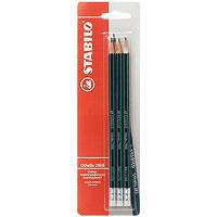 Набор чернографитных карандашй Stabilo Othello, 3 шт2988/HB-3BSTABILO Othello 2988 с ластиком особо прочный и экономичный карандаш самого высокого качества. Легко и аккуратно затачивается. Грифель из высококачественного мелкодисперсного графита благодаря особой технологии обработки даже при падении и ударе не ломается. Многослойное лаковое покрытие обеспечивает идеальный внешний вид карандаша на протяжении всего срока службы. Характеристики: Твердость: НВ. Длина карандаша: 19 см. Размер упаковки: 7 см х 24 см х 1,5 см.