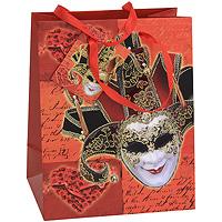 Пакет подарочный Венецианская маска, 18 см x 23 см x 10 см. 2123821238Бумажный подарочный пакет, оформленный изображением венецианской маски, с глянцевой ламинацией и золотистым тиснением, станет незаменимым дополнением к выбранному подарку. Для удобной переноски на пакете имеются две ручки из шнурка. Подарок, преподнесенный в оригинальной упаковке, всегда будет самым эффектным и запоминающимся. Окружите близких людей вниманием и заботой, вручив презент в нарядном, праздничном оформлении. Характеристики: Материал: бумага, текстиль. Размер: 18 см х 23 см х 10 см. Производитель: Китай. Артикул: 21238.