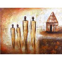 Картина-репродукция без рамки Племя, 60 х 80 см 2115821158Картина-репродукция без рамки Племя дополнит интерьер любого помещения, а также может стать изысканным подарком для ваших друзей и близких. Благодаря оригинальному дизайну картина может использоваться для оформления любых интерьеров. Картина выполнена на холсте масленым рисунком по шаблону. Такая картина - вдохновляющее декоративное решение, привносящее в интерьер нотки творчества и изысканности! Картина надежно упакована в пленку с противоударными уголками.