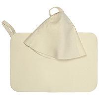 Набор для бани и сауны Классик: шапка, коврик41103Шапка и коврик для бани и сауны из 100% войлока - это оптимальный комплект необходимых предметов для всех любителей пара, способный защитить и создать комфортные условия, подарить отличное настроение. Шапка, выполненная из войлока, необходима в парной для защиты головы от перегрева. Шапка оформлена вышитой надписью Лучший банщик. Коврик - сделает комфортным ваше пребывание даже на самых горячих полках и позволит вам вволю насладится оздоравливающей и любимой процедурой. Характеристики: Материал: войлок. Размер коврика: 48,5 см х 32,5 см. Диаметр шапки по нижнему краю: 37 см. Высота шапки: 25 см. Размер упаковки: 34 см х 25 см х 4 см. Изготовитель: Китай. Артикул: 41103.
