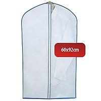 Чехол для одежды Hausmann, 60 х 92 см 2B-360922B-36092Удобный чехол для одежды на молнии из прочного дышащего и водонепроницаемого материала обеспечит надежное хранение Вашей одежды, защитит от повреждений во время хранения и транспортировки. Особая фактура ткани не пропускает пыль и при этом позволяет воздуху свободно проникать внутрь, обеспечивая естественную вентиляцию.