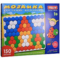 Мозаика для самых маленьких Stellar, 150 элементов01042Мозаика Stellar включает в себя 150 шестиугольных элементов, при помощи которых ребенок сможет создавать различные объемные цветные картинки. Для этого ему нужно лишь вставлять разноцветные пластиковые фишки в основу на примере приведенных в буклете изображений или так, как подскажет фантазия. Мозаика станет интересной игрой для Вашего ребенка и поможет ему развить фантазию и внимательность при создании веселых цветных композиций, логическое и абстрактное мышление, мелкую моторику рук и чувство цвета. Характеристики: Диметр фишки: 4 см. Размер упаковки: 47 см x 35 см x 4 см.