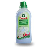 Ополаскиватель для белья Frosch, концентрированный, 750 мл709283Ополаскиватель для белья Frosch с помощью активных веществ на растительной основе смягчает волокна ткани, защищает их и сохраняет воздухопроницаемость белья. Средство подходит для хлопка, шерсти, вискозы, меланжевой ткани и синтетических волокон (например, эластана). Содержит натуральные отдушки, которые снижают риск появления раздражения на коже. Не содержит фосфата и формальдегида. Торговая марка Frosch специализируется на выпуске экологически чистой бытовой химии. Для изготовления своей продукции Frosch использует натуральные природные компоненты. Ассортимент содержит все необходимое для бережного ухода за домом и вещами. Продукция торговой марки Frosch эффективно удаляет загрязнения, оберегает кожу рук и безопасна для окружающей среды.
