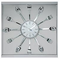 Часы настенные Ложки и вилки, кварцевыеCBS001-003A5Настенные кварцевые часы Ложки и вилки - это не только функциональное устройство, но и своим дизайном подчеркнут оригинальность интерьера вашей кухни. Часы декорированы по кругу ложками и вилками. Часы имеют две стрелки - часовую, минутную, которые выполнены в виде ножа и вилки. Циферблат защищен стеклом. Часы легко можно подвесить в удобном для вас месте. Кроме того, такие настенные часы могут стать отличным подарком для ценителя ярких и качественных вещей. Характеристики: Материал: стекло, пластик. Размер часов: 36 см х 36 см х 3 см. Диаметр циферблата: 13 см. Размер упаковки: 42 см х 4 см х 39 см. Изготовитель: Китай. Артикул: 91198. Работают от батарейки 1,5V типа АА (не входит в комплект).