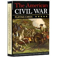 Коллекционные игральные карты Американская гражданская война, 54 листа1475В основу оформления колоды легли иллюстрации, посвященные гражданской войне в Америке. На картинках изображены портреты генералов, политических деятелей и борцов, а также сцены сражений. Коллекционные карты Американская гражданская война доставят вам удовольствие от игры.