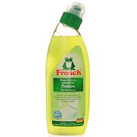 Очиститель для унитазов Frosch, с ароматом лимона, 750 мл707050Чистящее средство Frosch предназначено для чистки унитазов. Очиститель удаляет естественным образом известь, мочевой камень и грязь с унитаза, благодаря сильнодействующему растворителю извести из кожуры лимона. Удобный наклон дозатора позволяет легко наносить гель под кромку унитаза. Очиститель удаляет неприятные запахи и оставляет чистоту и свежий аромат. Торговая марка Frosch специализируется на выпуске экологически чистой бытовой химии. Для изготовления своей продукции Frosch использует натуральные природные компоненты. Ассортимент содержит все необходимое для бережного ухода за домом и вещами. Продукция торговой марки Frosch эффективно удаляет загрязнения, оберегает кожу рук и безопасна для окружающей среды.