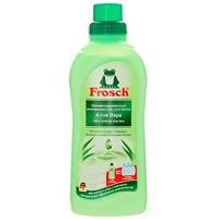 Ополаскиватель для белья Frosch, концентрированный, с Алое Вера, 750 мл709329Ополаскиватель для белья Frosch с помощью активных веществ на растительной основе смягчает волокна ткани, защищает их и сохраняет воздухопроницаемость белья. Средство подходит для хлопка, шерсти, вискозы, меланжевой ткани и синтетических волокон (например, эластана). Содержит натуральные отдушки, которые снижают риск появления раздражения на коже. Не содержит фосфата и формальдегида. Торговая марка Frosch специализируется на выпуске экологически чистой бытовой химии. Для изготовления своей продукции Frosch использует натуральные природные компоненты. Ассортимент содержит все необходимое для бережного ухода за домом и вещами. Продукция торговой марки Frosch эффективно удаляет загрязнения, оберегает кожу рук и безопасна для окружающей среды.