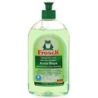 Средство для мытья посуды Frosch, концентрированное, с Алоэ Вера, 500 мл1706453Концентрированное средство для мытья посуды Frosch имеет специальный состав высокоактивных компонентов, которые мягко удаляют грязь и остатки пищи. Средство не оставляет подтеков, придавая блеск посуде. Средство имеет Ph-нейтральный состав, не содержит щелочи, а специально добавленный натуральный экстракт из листьев Алое Вера заботится о коже рук. Во время мытья посуды кожа защищена от высыхания, становится мягкой и эластичной. Благодаря специальной формуле, заботящейся о коже рук, это средство также можно использовать для обычного мытья рук. Средство обладает приятным ароматом. Торговая марка Frosch специализируется на выпуске экологически чистой бытовой химии. Для изготовления своей продукции Frosch использует натуральные природные компоненты. Ассортимент содержит все необходимое для бережного ухода за домом и вещами. Продукция торговой марки Frosch эффективно удаляет загрязнения, оберегает кожу рук и безопасна для окружающей среды. Характеристики: Объем:...