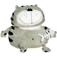 Мягкая игрушка Кот Бонус, 53 смКБС2Симпатичный кот Бонус поднимет вам настроение и непременно вызовет улыбку! Он придется по душе каждому, кто возьмет его в руки, став замечательным подарком как ребенку, так и взрослому. В лапе кот держит рыбий скелет. Игрушка удивительно приятна на ощупь. Мягкая игрушка может стать милым подарком, а может быть и лучшим другом на все времена. Характеристики: Материал: искусственный мех, текстиль. Набивка: синтепон. Высота игрушки: 53 см.