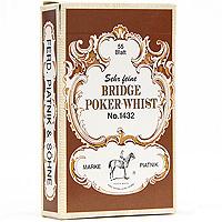 Профессиональные игральные карты Бридж, покер-вист, 55 листов, в ассортименте1432Карты Бридж, покер-вист подходят для профессиональной игры в покер, бридж и другие карточные игры, так как имеют очень гладкую поверхность и стандартный размер.