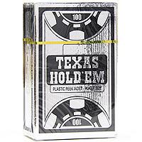 Карты игральные профессиональные Copag Texas Holdem, 54 карты, цвет: серебряный, черный104008324Карты Texas Holdem с рубашкой черного цвета подходят для профессиональной игры в покер. Карты имеют большой и маленький индекс, очень гладкую поверхность, выполнены из 100% пластика и имеют стандартный размер.