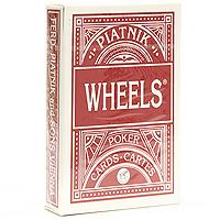 Карты игральные профессиональные Piatnik Wheels, покер, 55 карт1391Карты Wheels предназначены для игры в покер и другие карточные игры. Карты имеют очень гладкую поверхность, покрытие из пластика и стандартный размер.