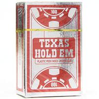 Карты игральные профессиональные Copag Texas Holdem, 54 карты, цвет: серебряный, красный104008325Карты Texas Holdem с рубашкой красного цвета подходят для профессиональной игры в покер. Карты имеют большой и маленький индекс, очень гладкую поверхность, выполнены из 100% пластика и имеют стандартный размер.
