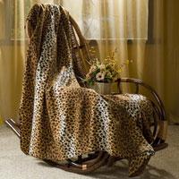 """Покрывало флисовое """"Леопард"""", цвет: коричневый, 130 х 150 см, ООО """"Диана-Текс"""""""