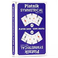 Игральные карты Piatnik Симметрия, цвет: синий, 55 шт1331_синийКарты Симметрия подходят для профессиональных игроков в покер и другие карточные игры, так как имеют очень гладкую поверхность, высококачественное покрытие и стандартный покерный размер.