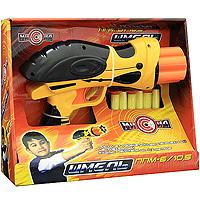Пистолет-пулемет Шмель со снарядами, цвет в ассортиментеWG102613Яркий пистолет-пулемет Шмель, стреляющий снарядами из поролона на присосках, обязательно понравится вашему ребенку. Оружие заряжается одновременно шестью снарядами. Зарядите пистолет, потяните затвор на себя и нажмите на курок. Игра с таким пистолетом поможет ребенку в развитии меткости, ловкости, координации движений и сноровке. Порадуйте своего малыша такой замечательной игрушкой!