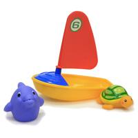 Набор игрушек для ванной Удивительная регата. 2508725087Набор ярких игрушек для ванной Удивительная регата порадует вашего малыша и превратит купание в удовольствие. В наборе парусник, черепашка и дельфин. Набор способствует развитию мелкой моторики, воображения, цветового и тактильного восприятия.