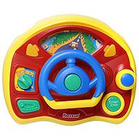 Развивающая музыкальная игрушка Веселые гонкиTV80NДетская развивающая игрушка Веселые гонки - это яркая развивающая игрушка, с помощью которой ваш ребенок научится рулить, сможет послушать различные звуки. Это самый настоящий руль! Управляя своим первым автомобилем, ребенок ощутит себя настоящим водителем! Ребенок сможет закрепить уже имеющиеся знания, получить новые, а также развить слух, звуковое и зрительное восприятие, воображение, память, координацию движений и мелкую моторику. А забавные кнопки и интересный дизайн сделают обучение еще увлекательнее! Порадуйте его таким замечательным подарком!