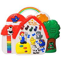 Развивающая игрушка Музыкальный теремокI66FYРазвивающая игрушка Музыкальный теремок - веселая музыкальная игрушка, которая обязательно понравится ребенку. Музыкальная панель в форме домика снабжена яркими кнопками в форме нот и животных. Нажимая на кнопки в форме животных, малыш услышит звуки, характерные данному животному. Нажав на кнопку в форме фермера, вы услышите веселую песенку. Клавишам в виде нот соответствуют пять веселых мелодий с сопровождением звуков животных. Семь разноцветных клавиш, расположенных на панели вертикально, соответствую звукам нот. Также у игры есть режим Угадай кто, предлагающий ребенку угадать какому животному принадлежит воспроизведенный звук. Эта яркая музыкальная игрушка способствует развитию цветового и звукового восприятия, знакомит ребенка с животными, развивает слух.