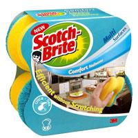 Губка для деликатной чистки Scotch-Brite Comfort Nailsaver, 2 шт, цвет: в ассортименте9388Губка Scotch-Brite Comfort Nailsaver предназначена для ухода за всеми видами поверхностей, в том числе деликатными: за стеклом, пластиком, керамикой, фарфором, хрусталем, кафелем. Может использоваться как в ванной, так и на кухне. Преимущества: уникальное латексное покрытие и мягкие пластиковые гранулы гарантируют деликатную чистку без царапин особенная форма обеспечивает защиту рук и маникюра от повреждений благодаря высокопрочному поролоновому слою и технологии Ультра Флекс требуется минимум усилий во время чистки.
