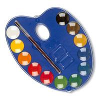 Акварель d25мм 12 цветов + палитра51000026Акварельные полусухие краски Primo идеально подойдут для детского и художественного изобразительного искусства. Яркие, насыщенные цвета отлично смешиваются между собой и дают множество оттенков. Рисование развивает мелкую моторику ребенка, чувство цвета, позволяет малышу выразить свое эмоциональное состояние. В наборе краски 12 цветов и кисточка.