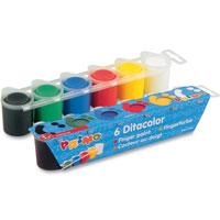 Пальчиковые краски 6 цветовx25мл225TD6EКраски Primo, предназначенные для рисования пальцами, помогут малышу развить творческие способности, воображение и мелкую моторику рук. В набор входят краски синего, зеленого, желтого, красного, белого и черного цветов. Краски каждого цвета хранятся в отдельной пластиковой баночке. Краски абсолютно безопасны для ребенка.
