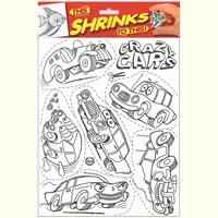 Набор для творчества Сумасшедшие тачкиШРКН-120411-002С набором для творчества Сумасшедшие тачки ваш ребенок сможет создать шесть оригинальных наконечников для карандашей. В набор входят шесть цветных наконечников, лист с шестью изображениями тачек, четыре цветных карандаша и две полоски двусторонней клейкой ленты. Раскрасьте картинки, вырежьте их, отправьте в духовку и смотрите: волшебным образом они становятся в 7 раз меньше и в 7 раз толще. Набор поможет малышу в развитии фантазии, изобретательности, аккуратности, а также развивает мелкую моторику рук и терпение. Порадуйте своего ребенка таким замечательным подарком!